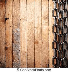 metallo, e, legno, fondo