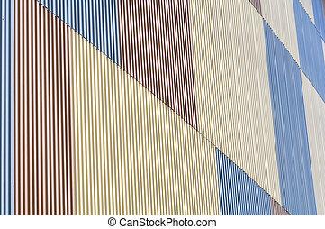 metallo, foglio, parete, struttura