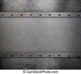 metallo, fondo, con, chiodi