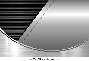 metallo, fondo, con, spazio copia