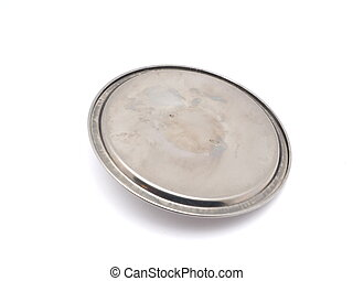 metallo, fondo, coperchio, bianco
