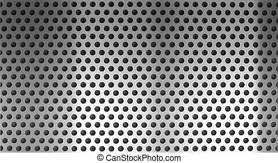metallo, holed, o, perforato, sfondo griglia