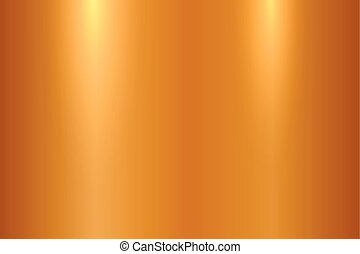 metallo lucidato, -, superficie, metallico, vettore, fondo, baluginante, texture., bronzo