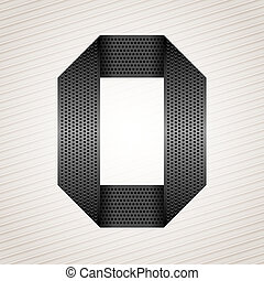 metallo, -, numero, 0, zero, nastro