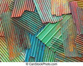 metallo ondulato, fogli