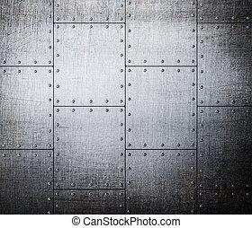 metallo, piastre, fondo