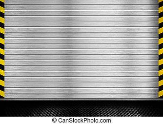 metallo, porta, fondo