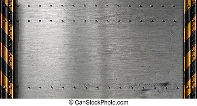 metallo, sagoma, fondo