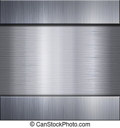 metallo spazzolato, alluminio, piastra