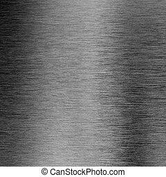 metallo spazzolato, macro, struttura, fondo