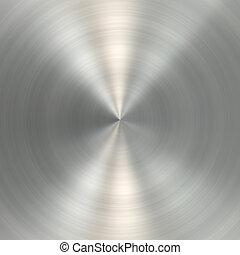 metallo, spazzolato, struttura, circolare