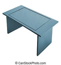 metallo, tavola, su, uno, sfondo bianco
