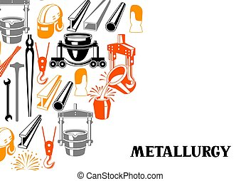 Metallurgical background design. Industrial items and...
