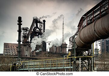 metallurgical, factory.