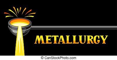 metallurgical, illustration., ひしゃく