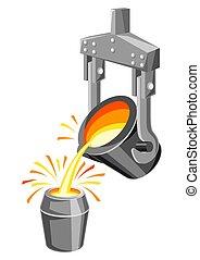 metallurgical, illustration., louche