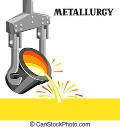 Metallurgical ladle illustration. Industrial equipment for ...