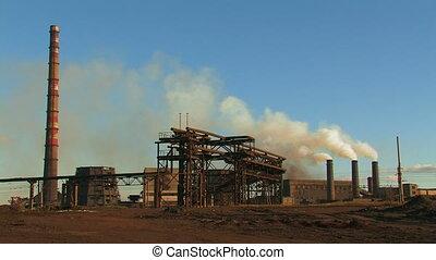 Metallurgical plant.