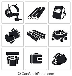 Metallurgy Icons set