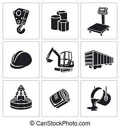 metalurgia, jogo, ícones