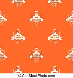 Metalwork pattern vector orange for any web design best