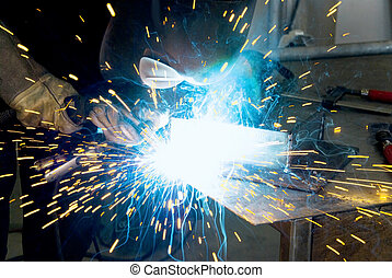 metalworker welder - metalworker welding a work piece
