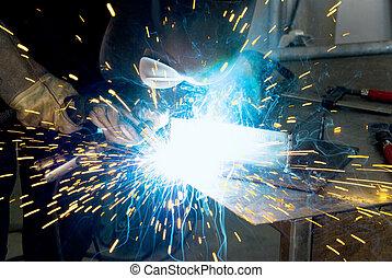 metalworker welder - metalworker welding a work piece