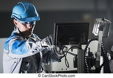 metalworking, 旋盤, 労働者