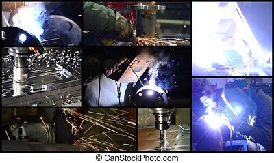 metalworking collage