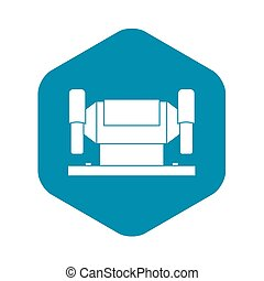 Metalworking machine icon, simple style