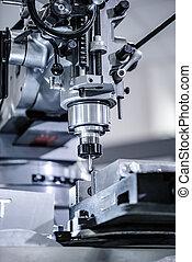 Metalworking milling machine. Cutting metal modern...