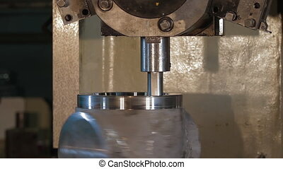 metalworking, workpiece., utilisation, coupeurs, processus, ...