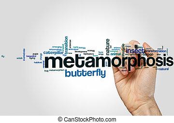 metamorfoza, słowo, chmura