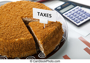 metaphor for the payment of taxes - office work and metaphor...