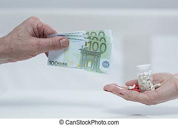 Metaphor of expensive medicine