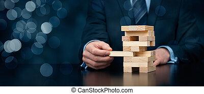 Risk management - Metaphor of risk in business. Risk ...