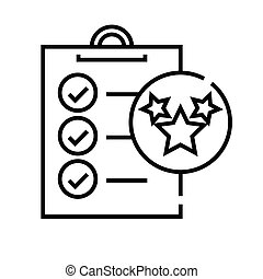 metas, linear, conceito, esboço, ícone, símbolo., sinal, vetorial, fazer, linha, ilustração