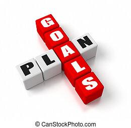 metas, plano