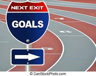 metas, sinal estrada