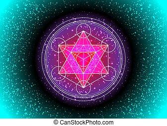 Metatrons Cube, vie de fleur. Géométrie sacrée, graphique ...