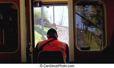 meten, berg, tandrad, bergen., trein, toerist, zwitserland,...