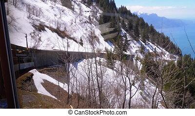meten, tandrad, bergen., alpen, trein, toerist, zwitserland,...