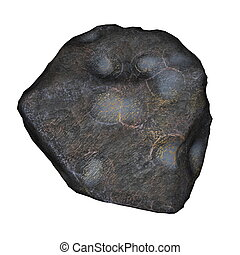 Meteor - 3D render - Meteor isolated in white background -...