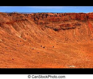 Meteor Crater - Meteor crater slow pan