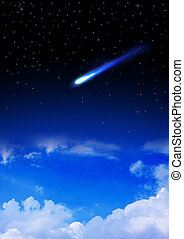 Meteor enters the Earth's atmosphere