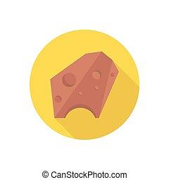meteor flat color icon