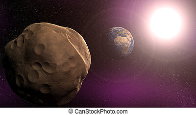 Meteor - Large asteroid closing in on Earth