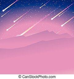 meteor shower background - Evening stargazing background...