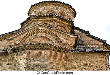 meteora, 伝統的である, ビザンティウム, 古い, ギリシャ, 修道院