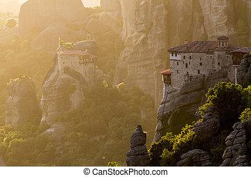 meteora, 修道院, ランドマーク, ギリシャ